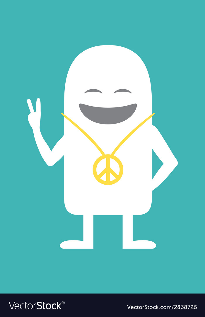 Animated personality pacifist vector | Price: 1 Credit (USD $1)