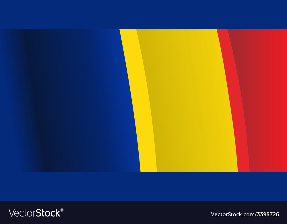 Background with waving romanian flag vector | Price: 1 Credit (USD $1)