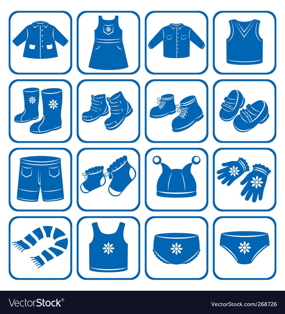 Child clothes set vector | Price: 1 Credit (USD $1)
