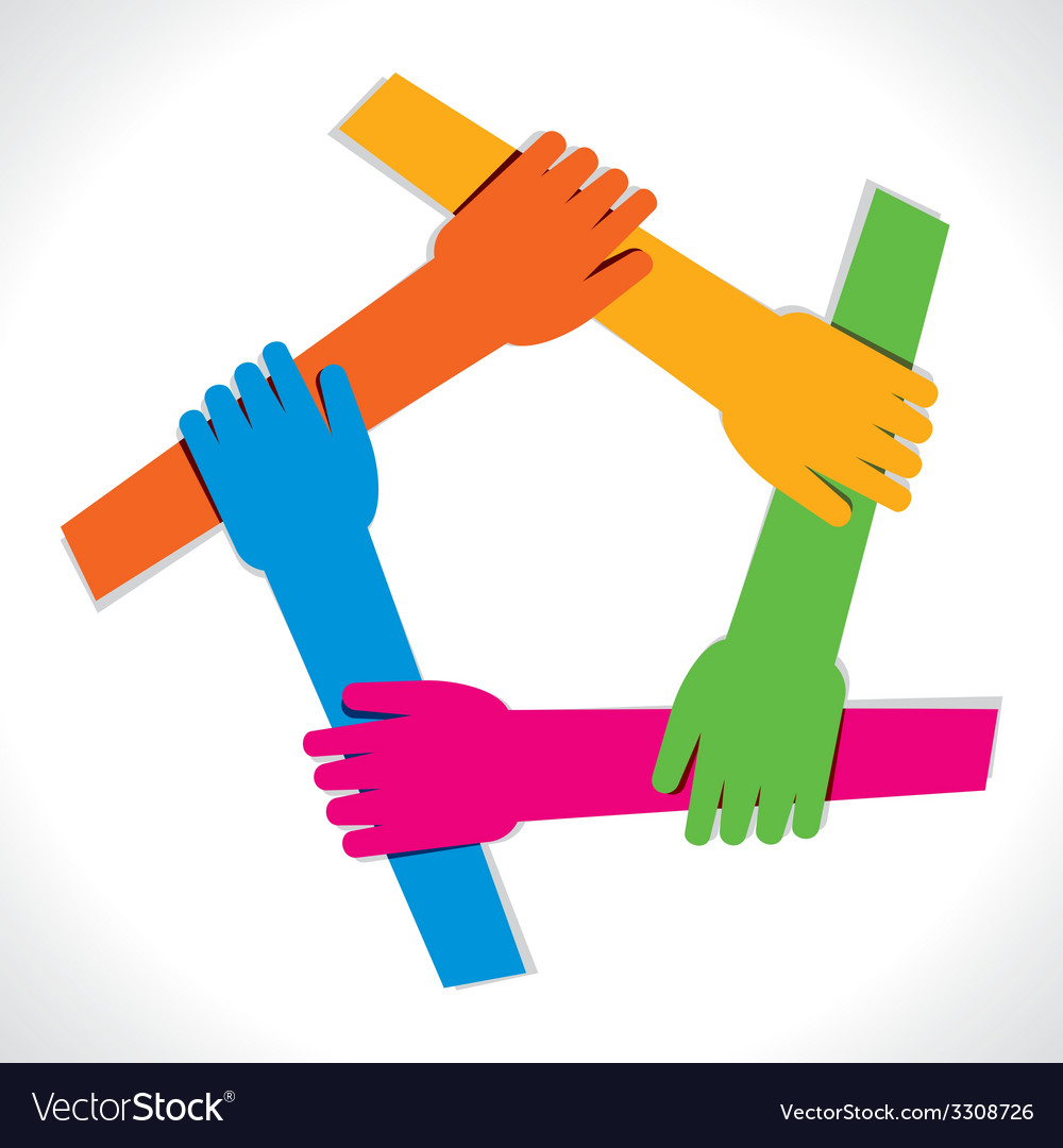 Colorful hand show unity vector | Price: 1 Credit (USD $1)