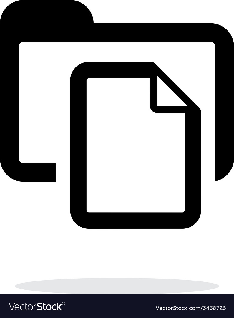Folder with files icon on white background vector | Price: 1 Credit (USD $1)