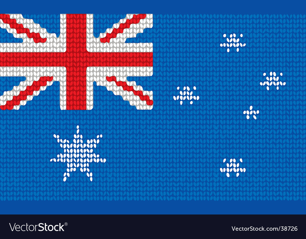 Knitted australia flag vector | Price: 1 Credit (USD $1)