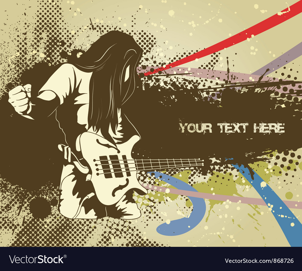 Man with guitar vector | Price: 1 Credit (USD $1)
