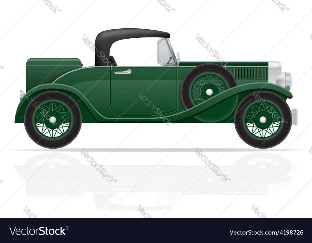 Old retro car 04 vector | Price: 1 Credit (USD $1)
