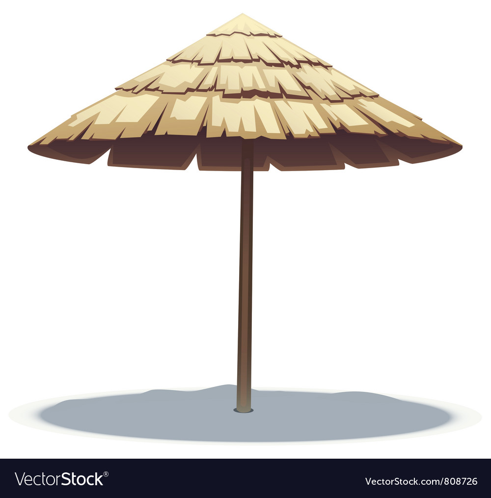 Palm leaf beach umbrella vector | Price: 3 Credit (USD $3)