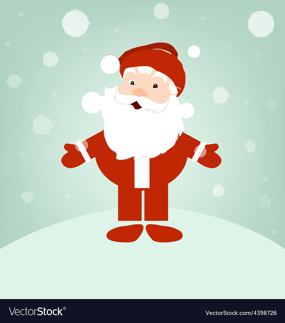Santa on winter snow vector | Price: 3 Credit (USD $3)