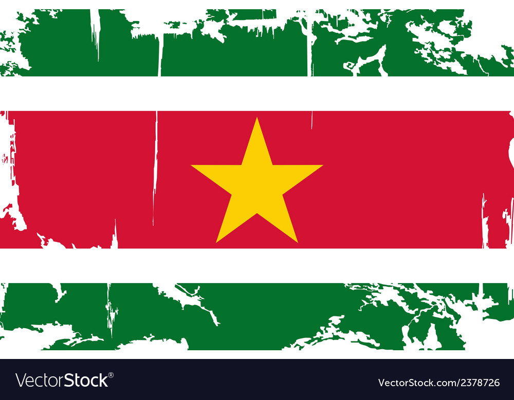 Surinam grunge flag vector | Price: 1 Credit (USD $1)