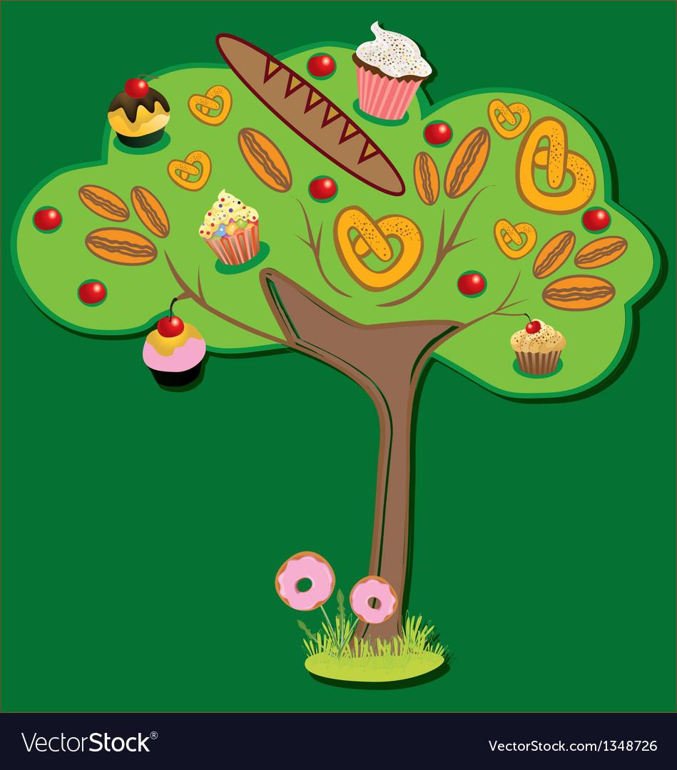 Sweet tree vector | Price: 3 Credit (USD $3)