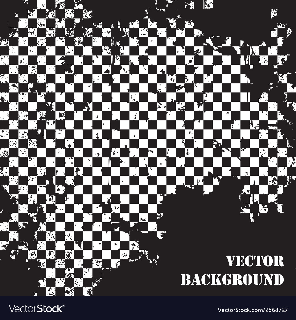 Abstract checkered grunge background pattern vector | Price: 1 Credit (USD $1)