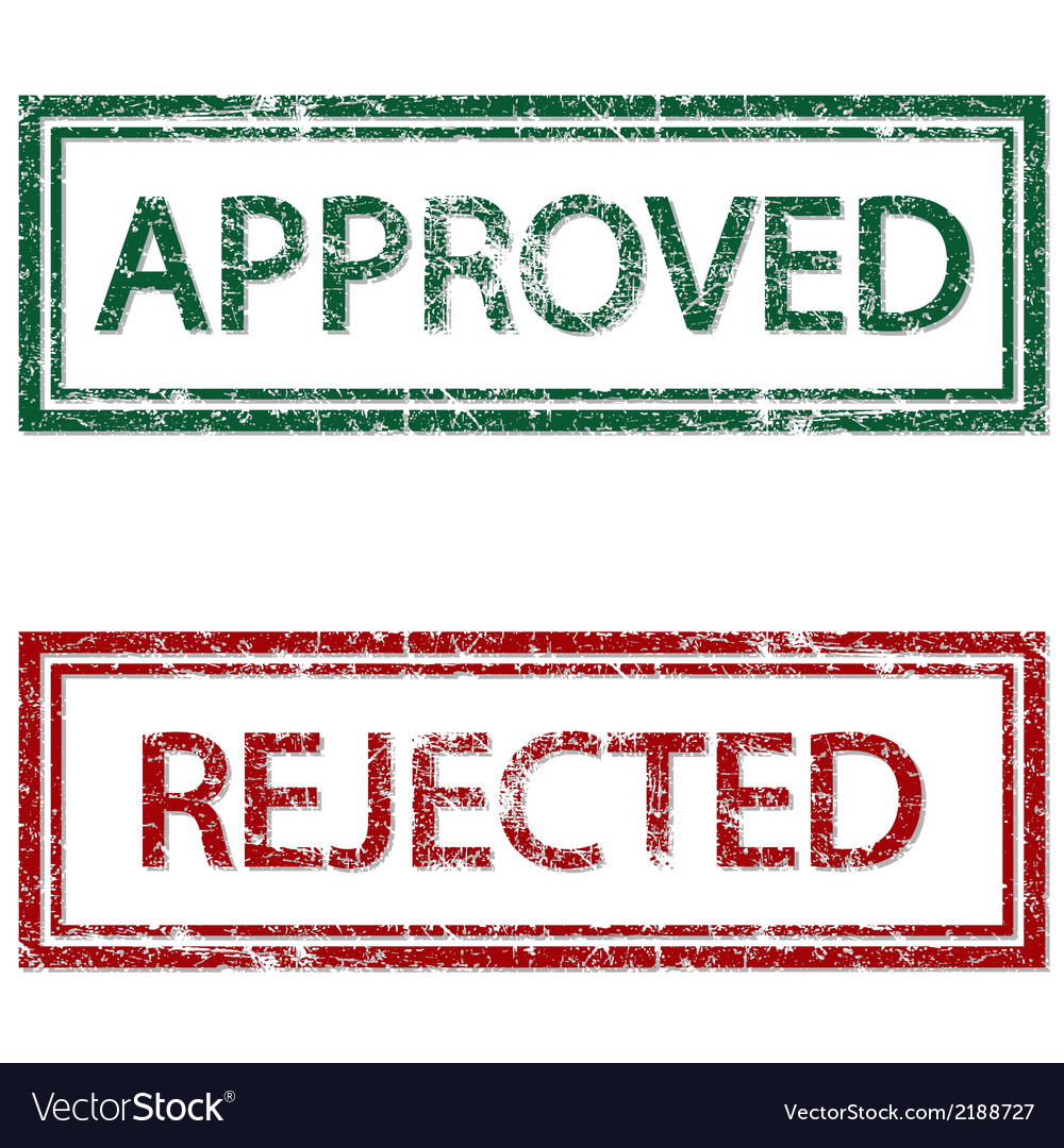 Approved rejected vector | Price: 1 Credit (USD $1)