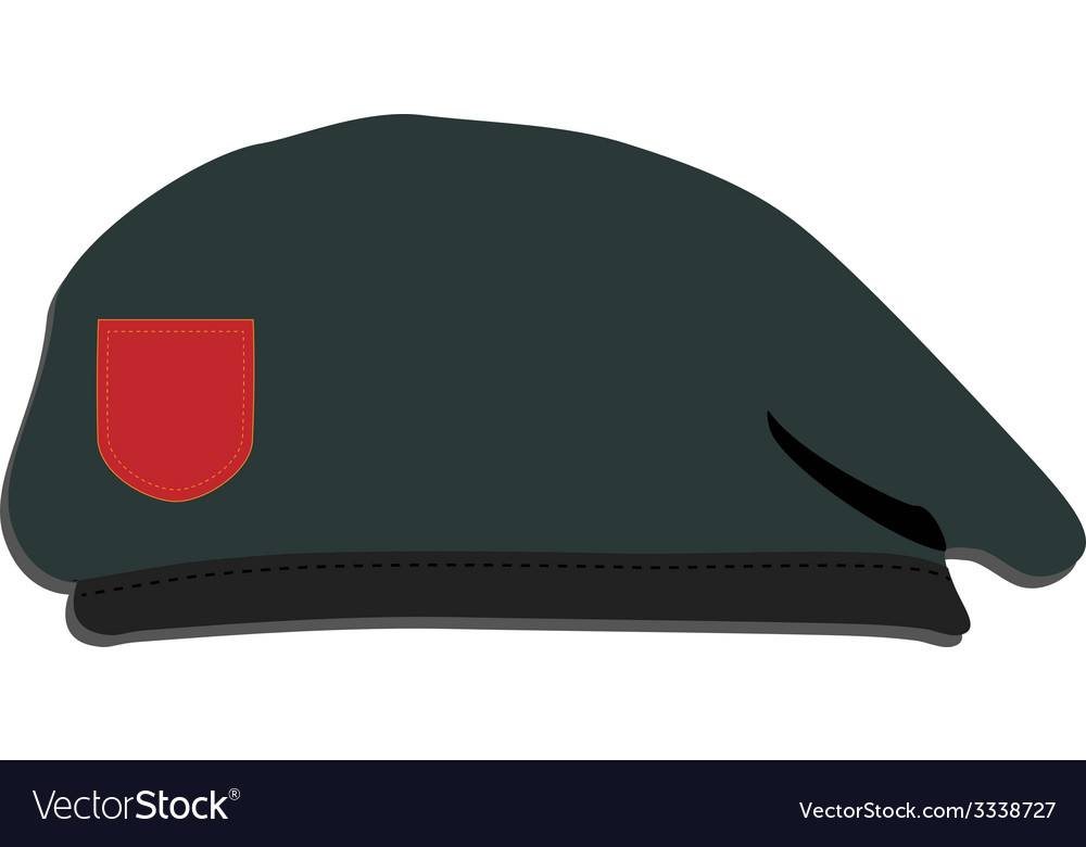 Army beret vector | Price: 1 Credit (USD $1)