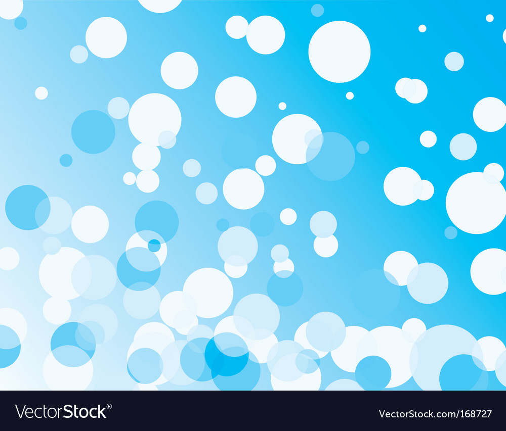 Blue background with transparent bubbles vector | Price: 1 Credit (USD $1)