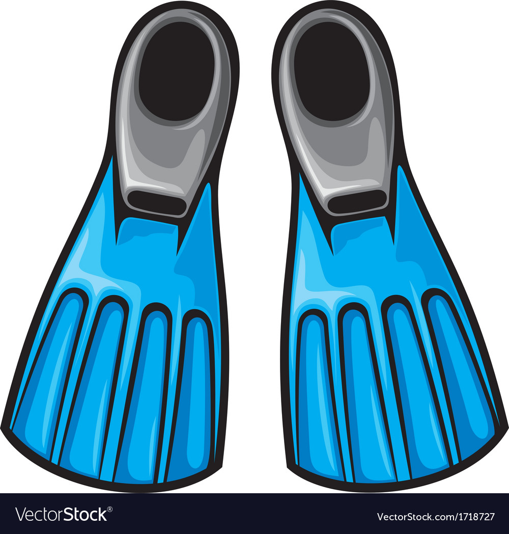Blue flippers vector | Price: 1 Credit (USD $1)