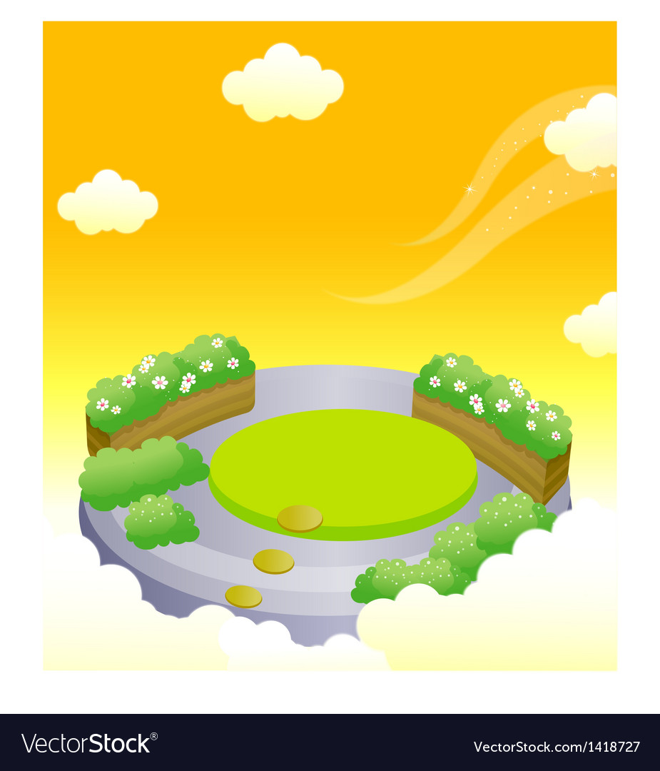 Formal garden in sky vector | Price: 1 Credit (USD $1)