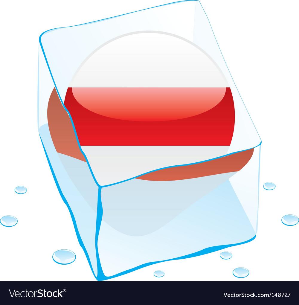 Frozen button flag of belarus vector | Price: 1 Credit (USD $1)