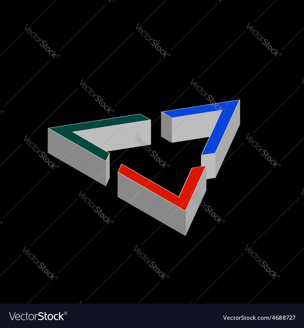 Geometric shape company logo design vector | Price: 1 Credit (USD $1)