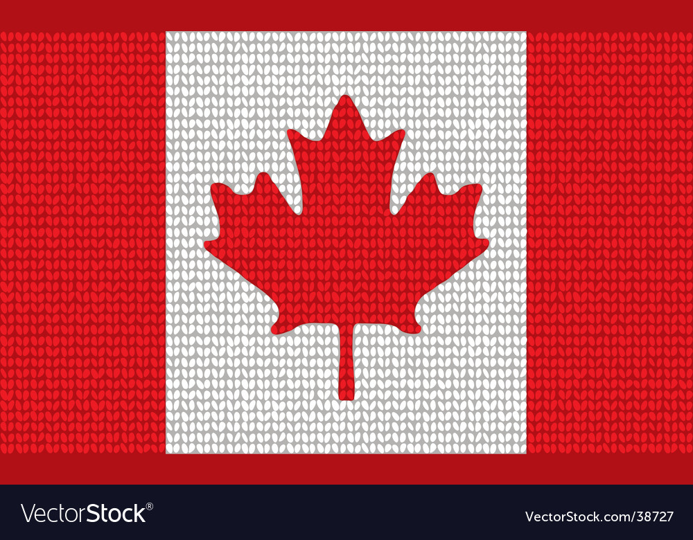 Knitted canadian flag vector | Price: 1 Credit (USD $1)