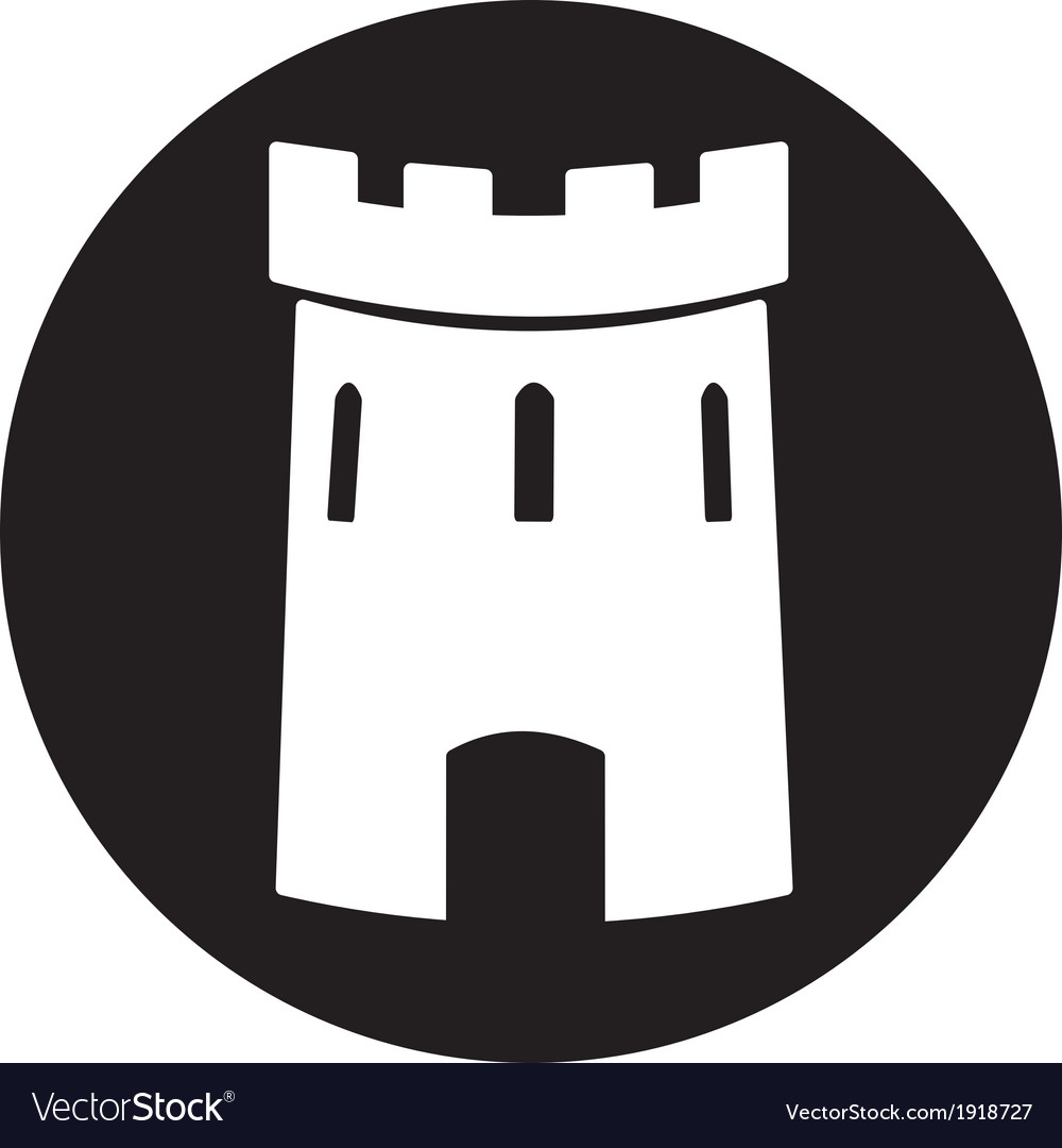 Medieval castle tower icon vector | Price: 1 Credit (USD $1)