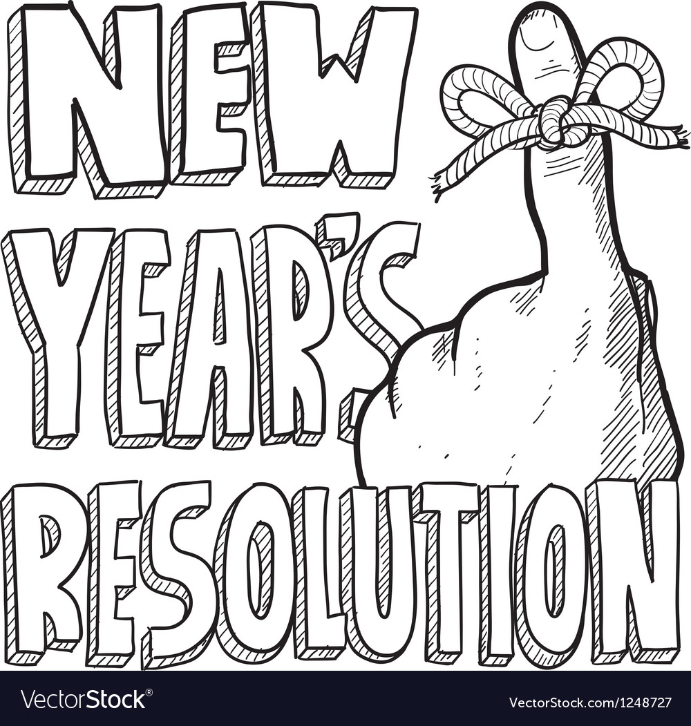 New years resolution vector | Price: 1 Credit (USD $1)