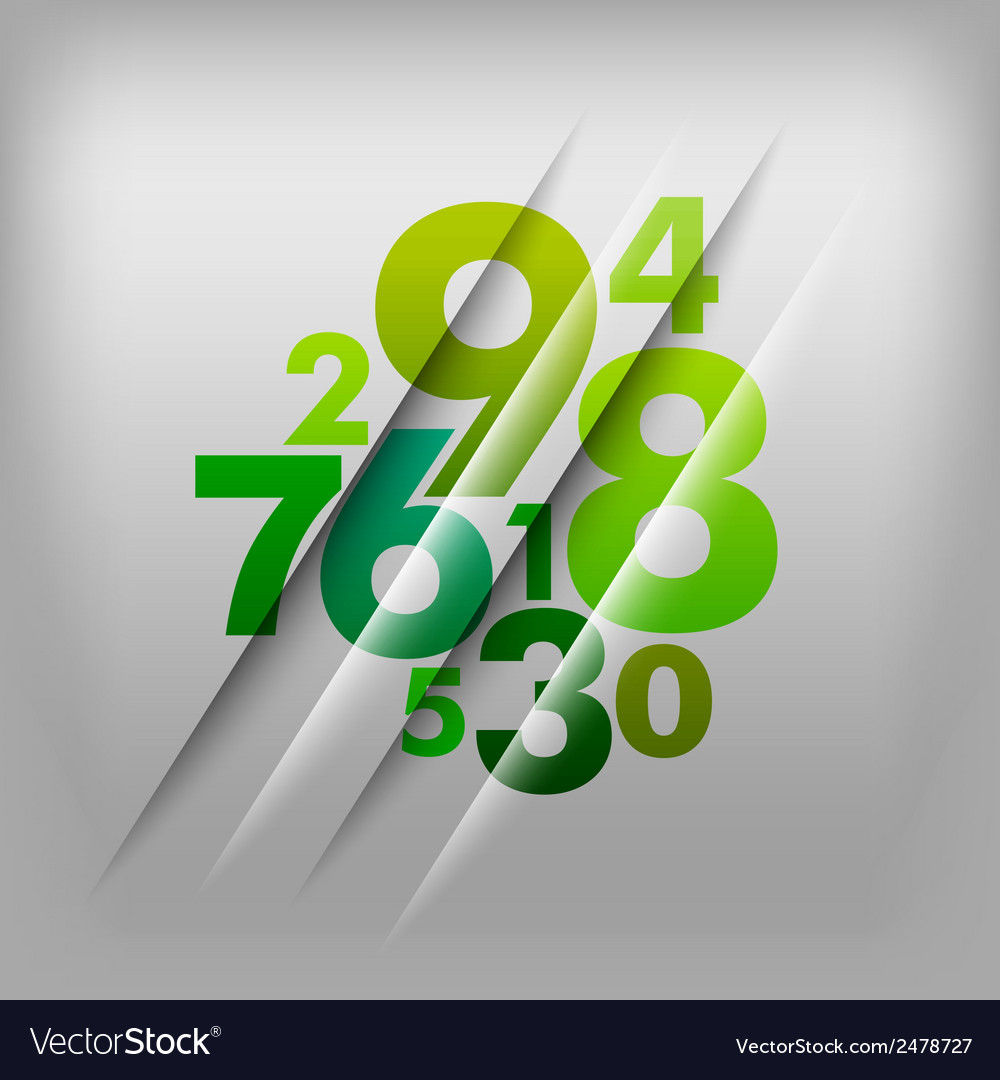 Numbers green vector | Price: 1 Credit (USD $1)
