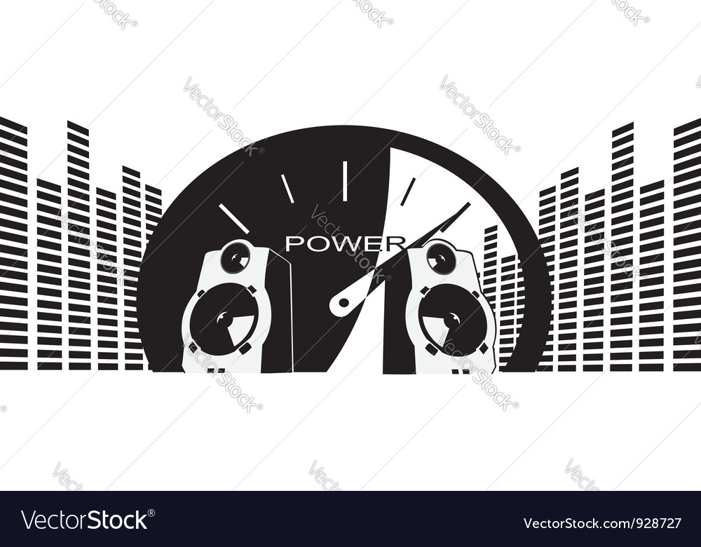 Powerful speakers vector | Price: 1 Credit (USD $1)
