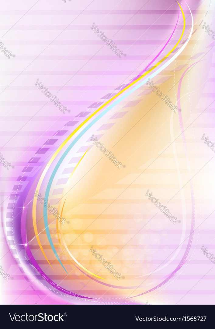Purple yellow gradient mesh with slender stripes vector | Price: 1 Credit (USD $1)