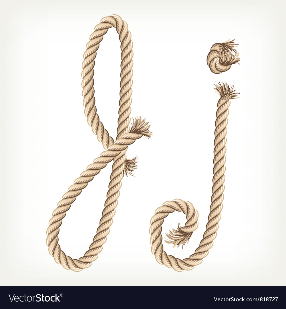 Rope alphabet letter j vector | Price: 1 Credit (USD $1)