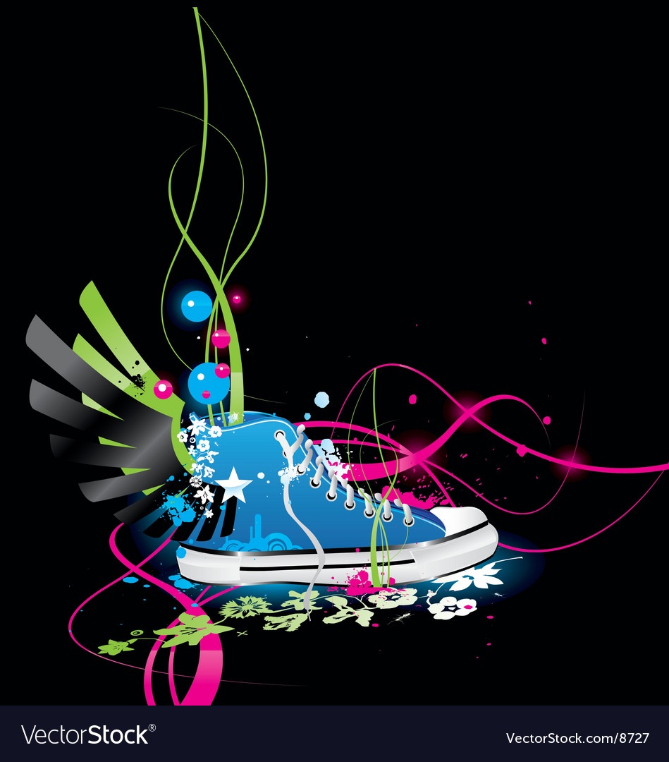 Sneakers gym-shoes vector | Price: 5 Credit (USD $5)