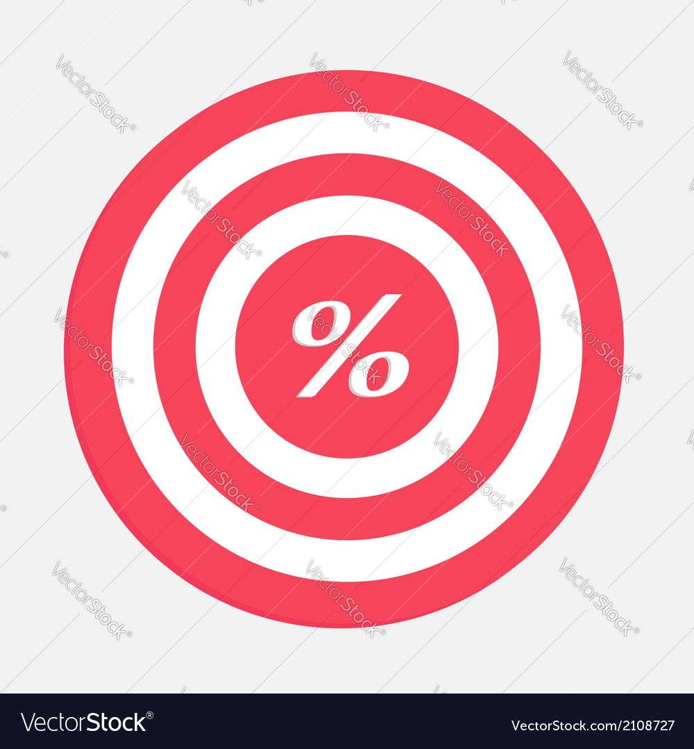 Target with percent sign vector | Price: 1 Credit (USD $1)