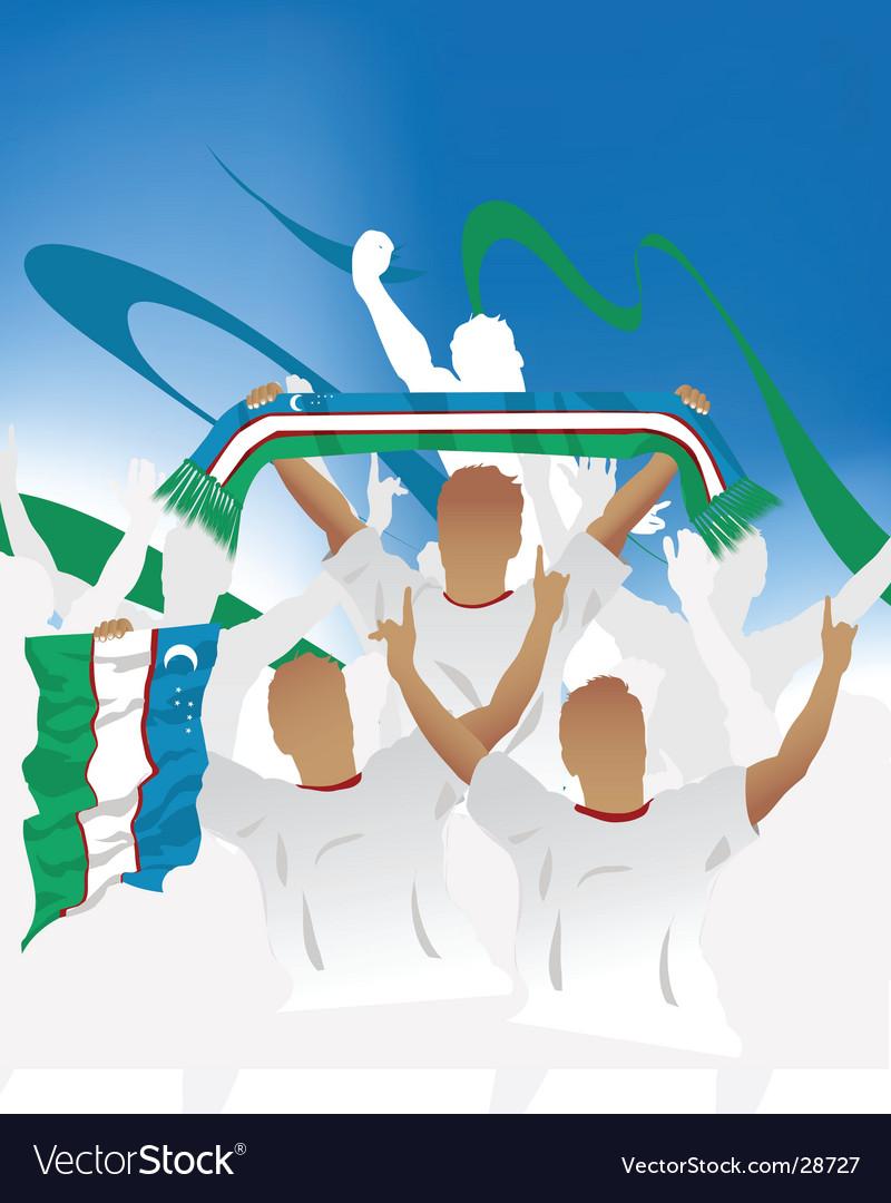 Uzbekistan crowd vector | Price: 1 Credit (USD $1)