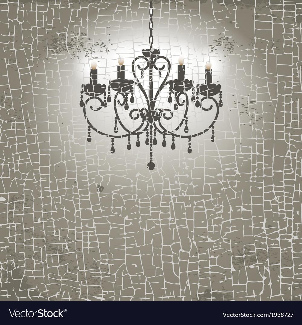 Vintage chandelier vector | Price: 1 Credit (USD $1)