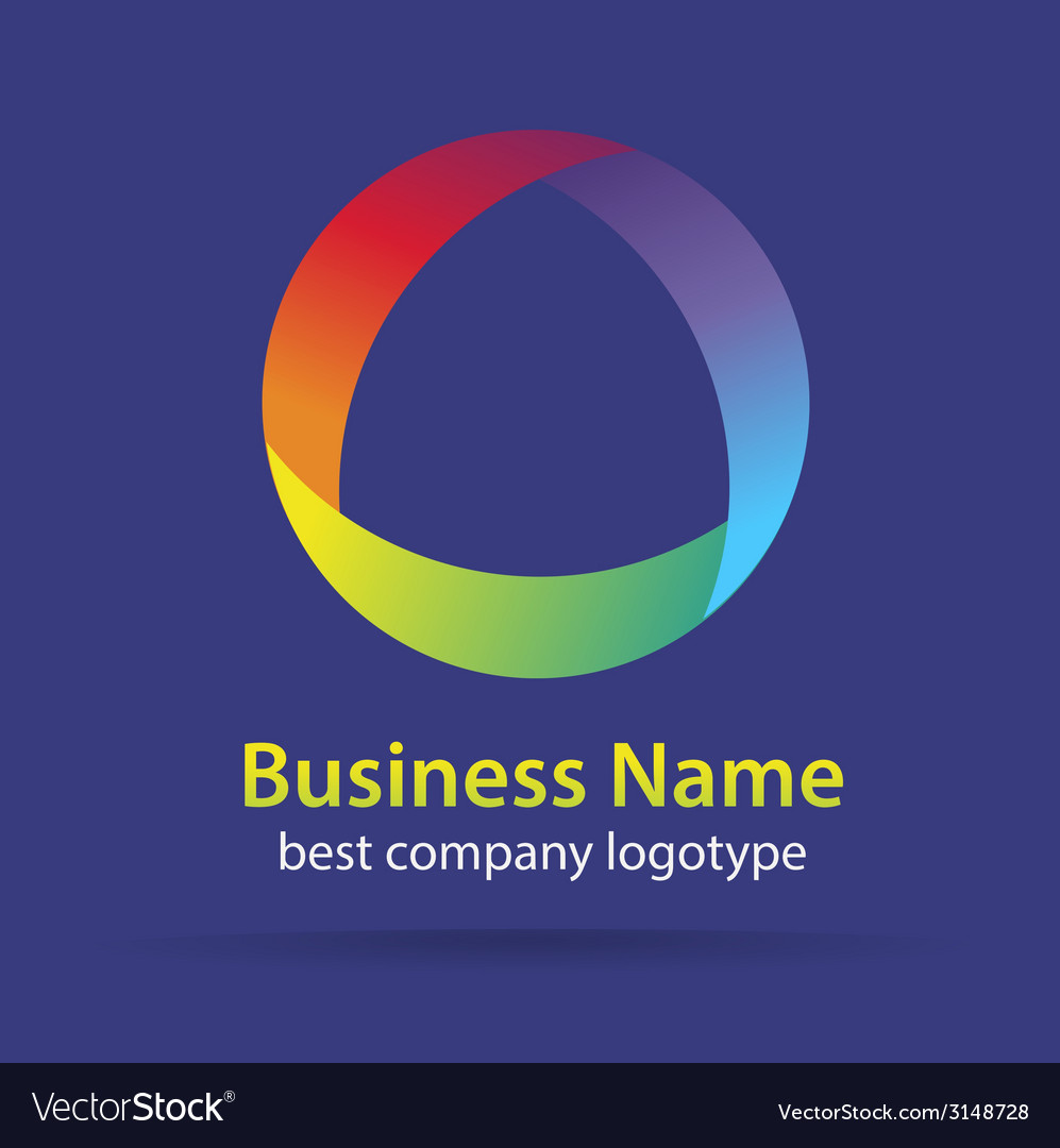 Abstract colored logtype for company branding vector | Price: 1 Credit (USD $1)