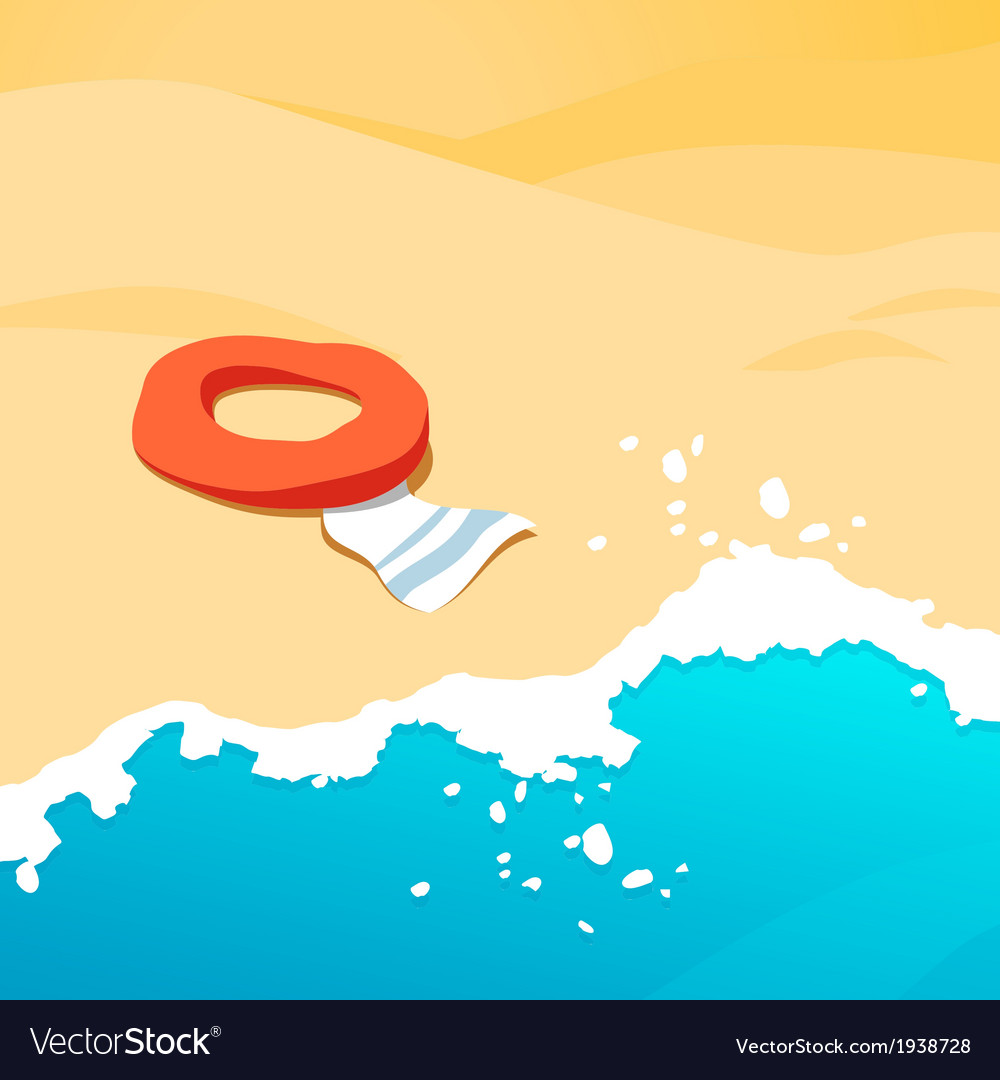 Background beach vector | Price: 1 Credit (USD $1)