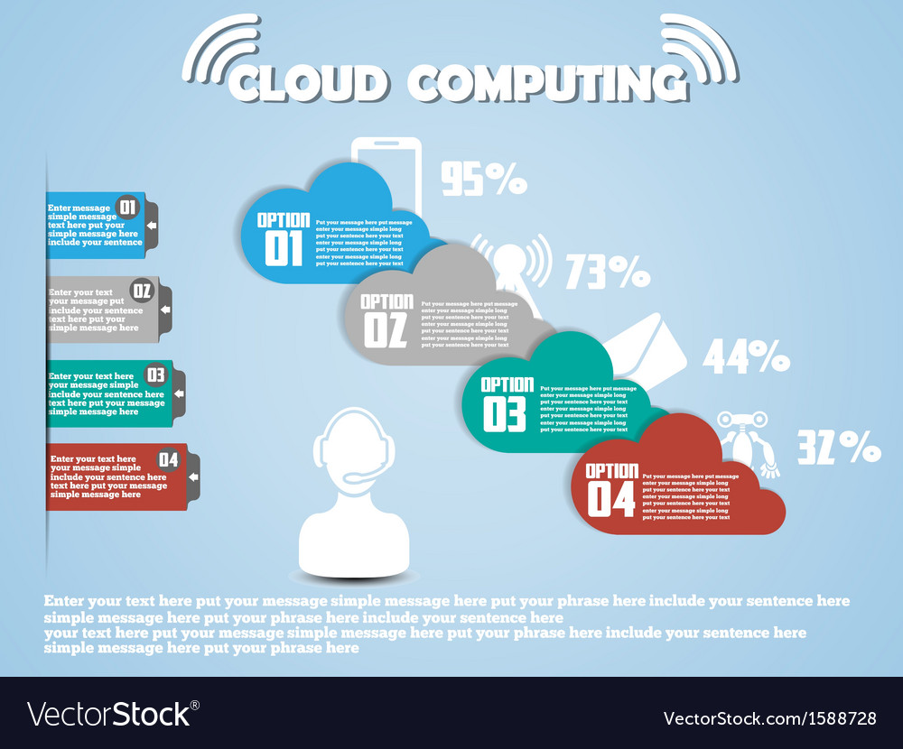 Cloud computing classifications new style 2 vector | Price: 1 Credit (USD $1)