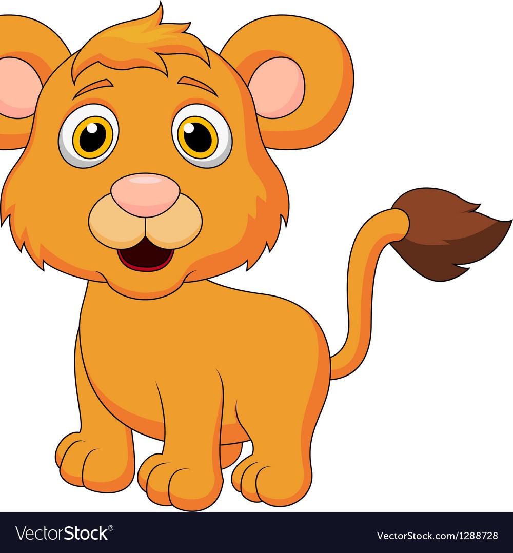 Cute baby lion cartoon vector   Price: 1 Credit (USD $1)