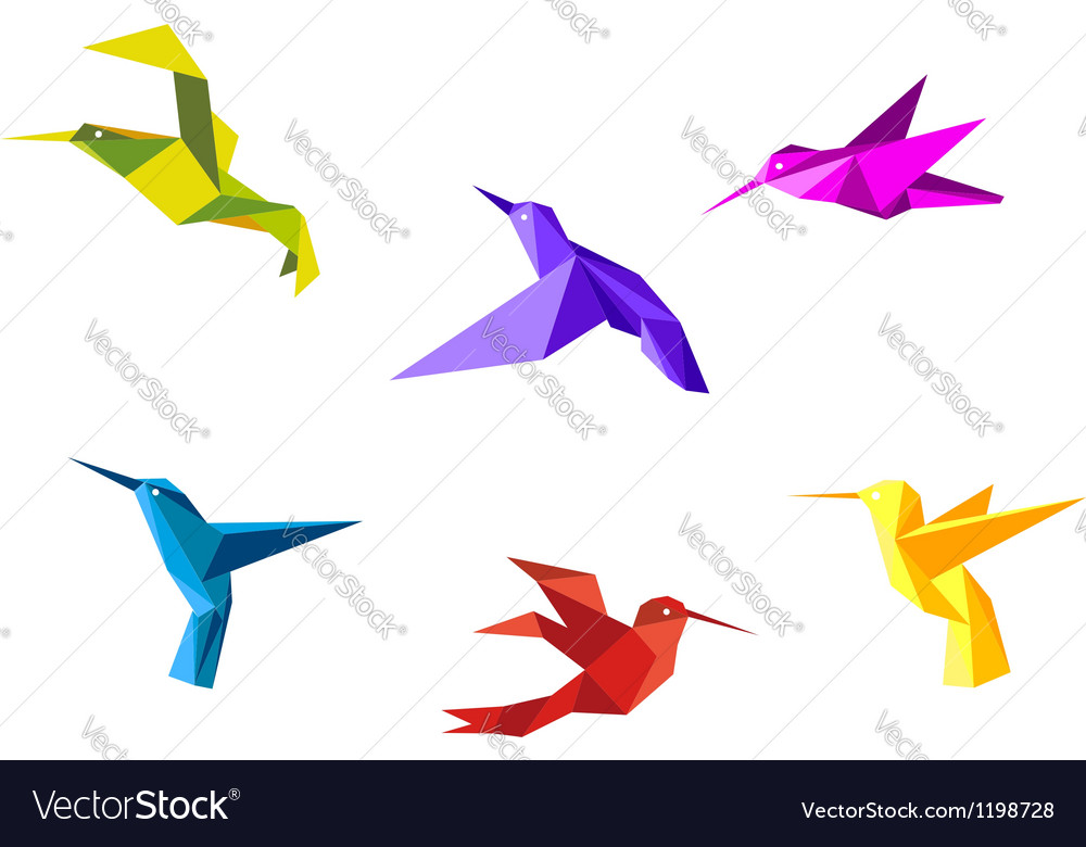 Doves and hummingbirds vector | Price: 1 Credit (USD $1)