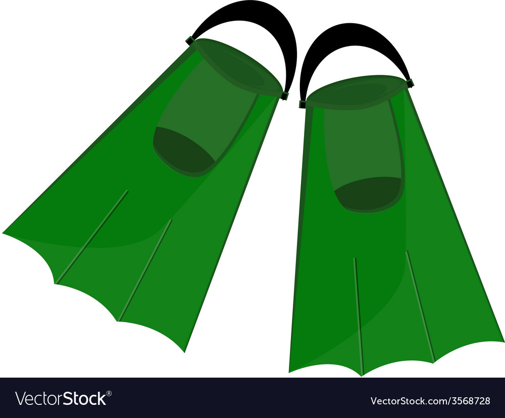 Green flippers vector | Price: 1 Credit (USD $1)