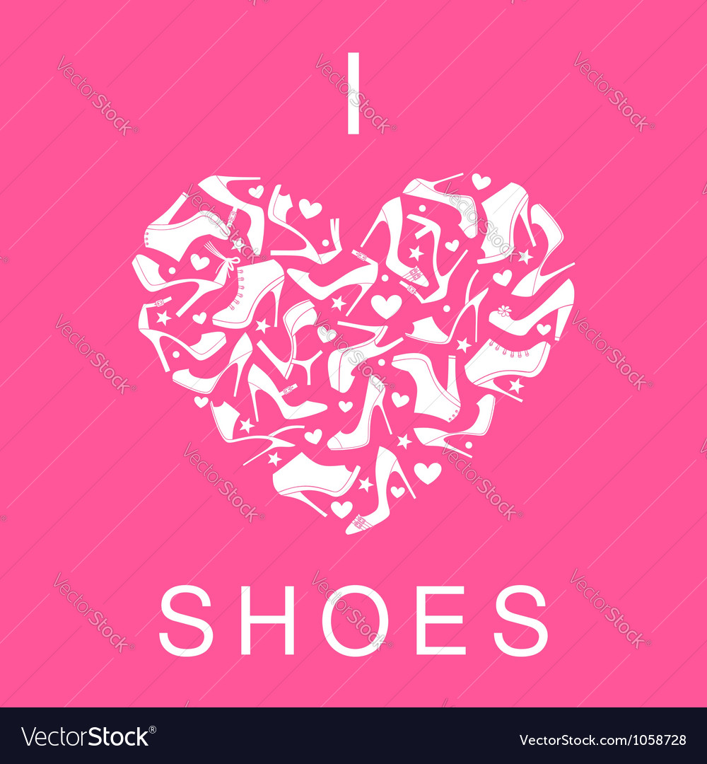 I love shoes vector | Price: 1 Credit (USD $1)
