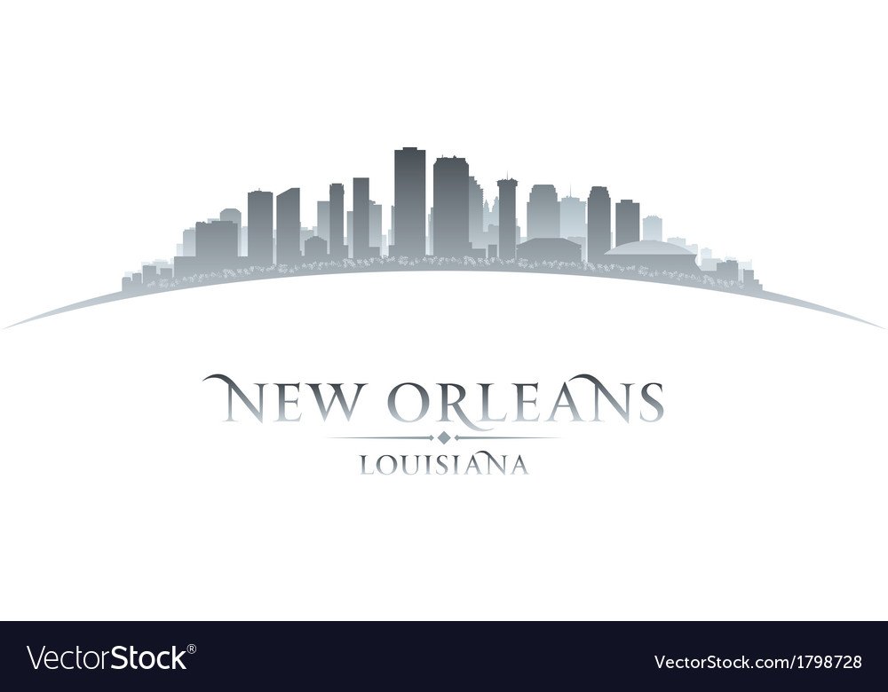 New orleans louisiana city skyline silhouette vector | Price: 1 Credit (USD $1)