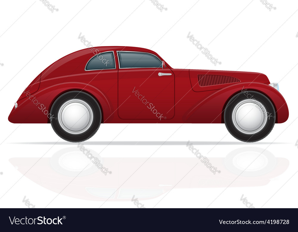 Old retro car 05 vector | Price: 1 Credit (USD $1)