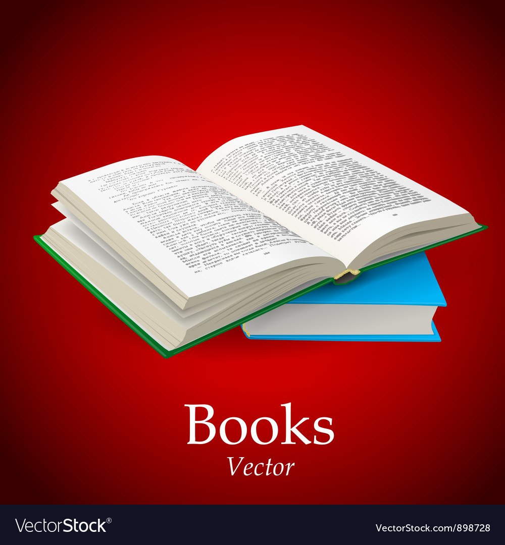Open book vector | Price: 3 Credit (USD $3)