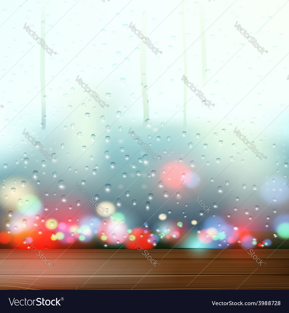 Raindrops on the window vector | Price: 1 Credit (USD $1)