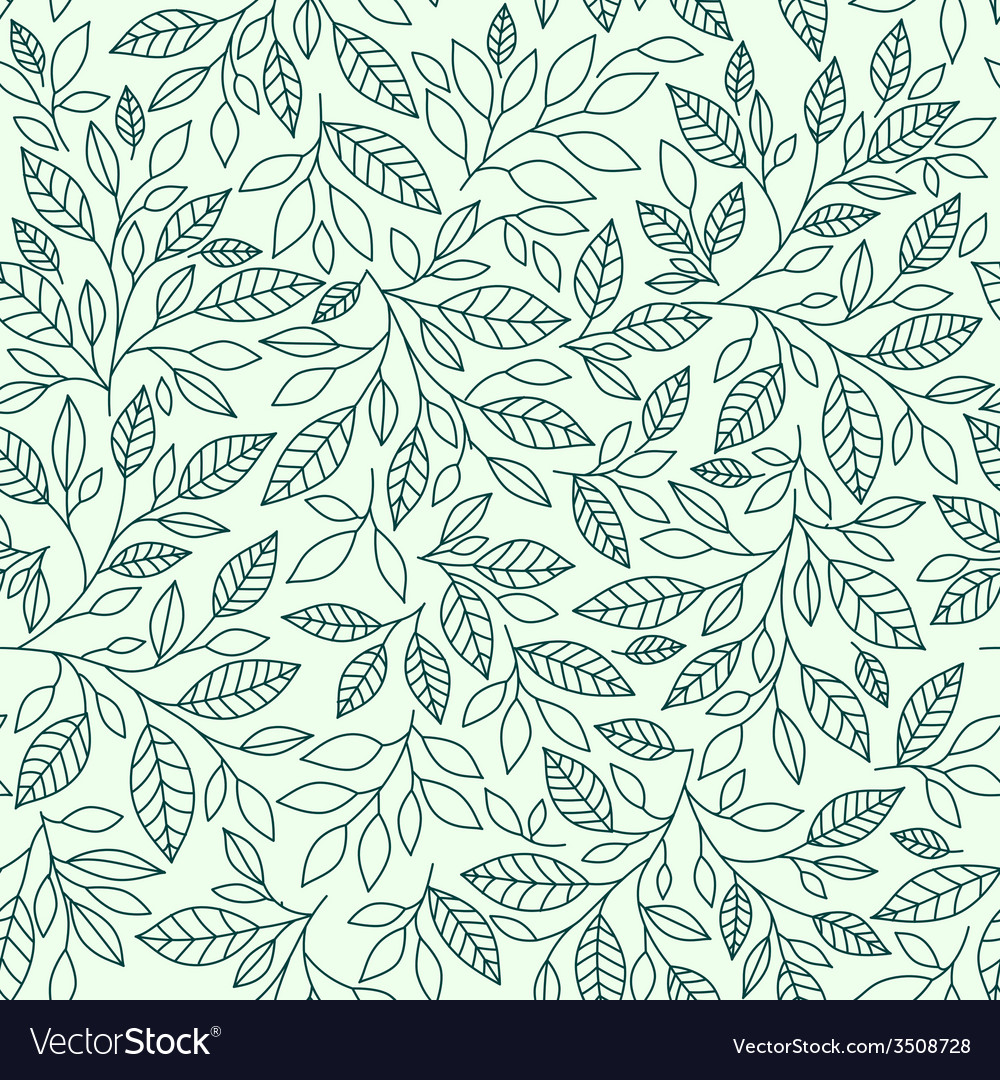 Seamless pattern stylized leaves vector | Price: 1 Credit (USD $1)