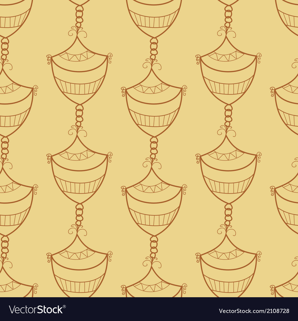 Seamless pattern with design element vector | Price: 1 Credit (USD $1)