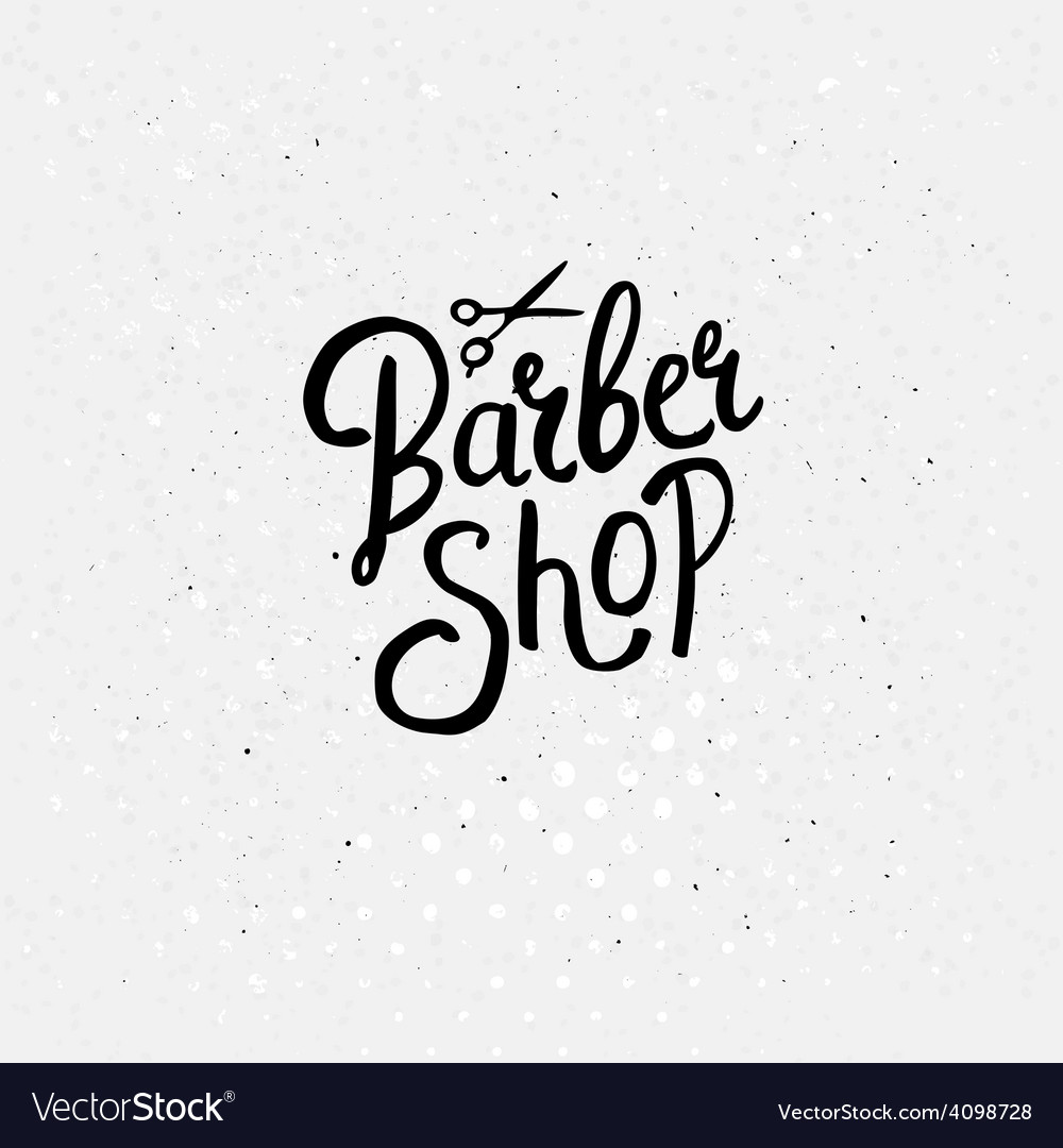 Simple text design for barber shop concept vector | Price: 1 Credit (USD $1)