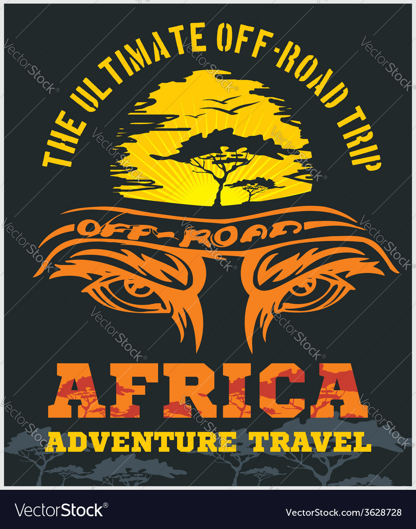 Travel africa - extreme off-road emblem vector | Price: 1 Credit (USD $1)
