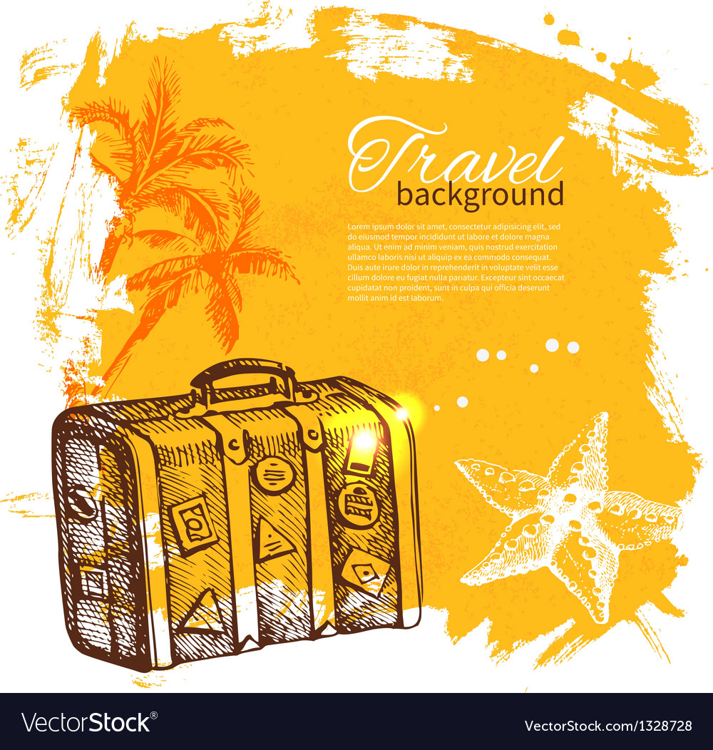 Travel colorful tropical design vector | Price: 1 Credit (USD $1)