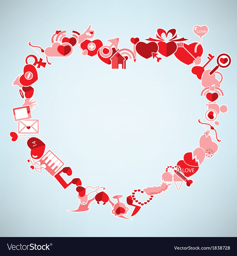 Valentines day background with heart the heart vector | Price: 1 Credit (USD $1)