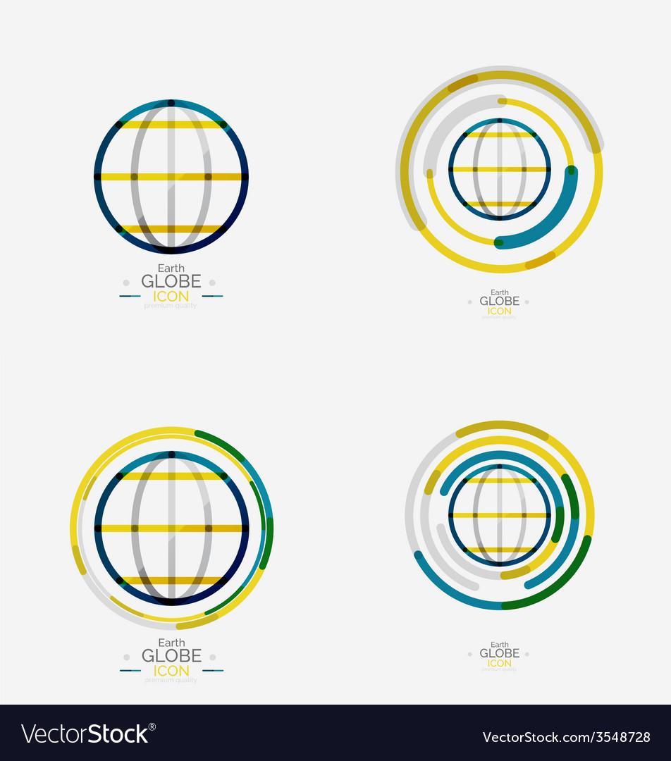 World globe logo stamp vector | Price: 1 Credit (USD $1)