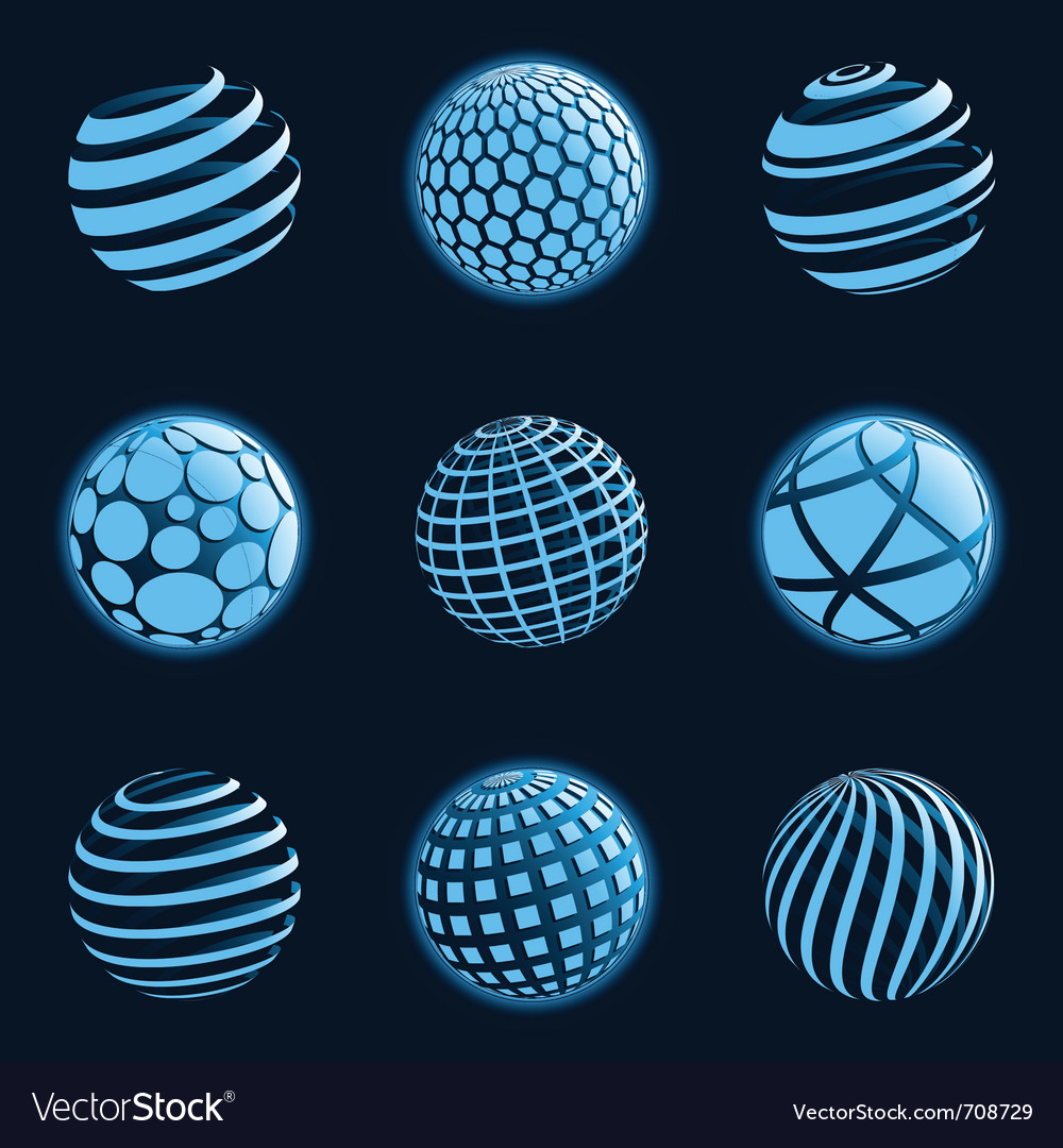 Blu planet icons vector | Price: 1 Credit (USD $1)